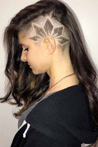 Long Half Shaved Style Edgy Design  #halfshavedhead #hairstyles #undercut
