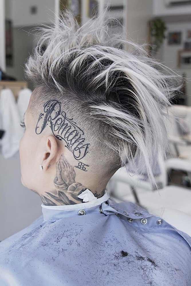 Messy & Punky Mohawk #halfshavedhead #hairstyles #undercut