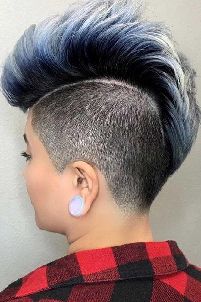 Dramatic Mohawk #halfshavedhead #hairstyles #undercut