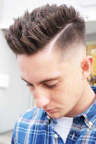 Crimped Hard Part Hairstyle #menshair #hardparthaircut #menshaircuts