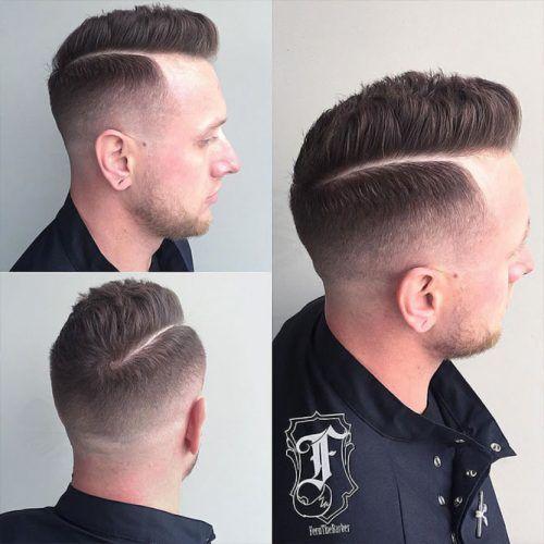 Thick Shaved Line + Mid Razor Fade #menshair #hardparthaircut #menshaircuts