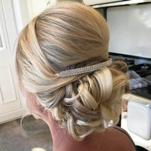 Bumped Updo With Low Bun #motherofthebridehairstyles
