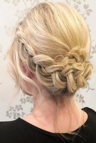 Crown Braid Updo #motherofthebridehairstyles