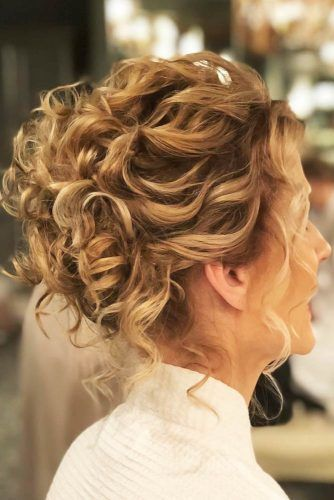 Curly Updo With Long Fringe #motherofthebridehairstyles