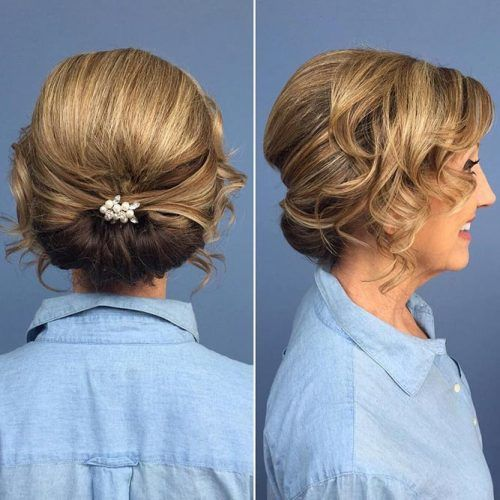 Graceful Low Twist With Free Curls #updo
