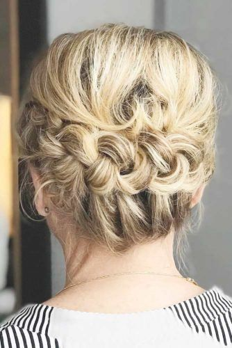Braided Updo For Short Hair #motherofthebridehairstyles