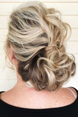 Textured Updo With Twisted Curls #updo #bun