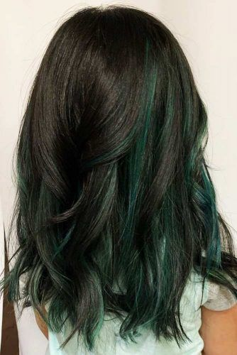 Teal & Black #peekaboohair #blackhair