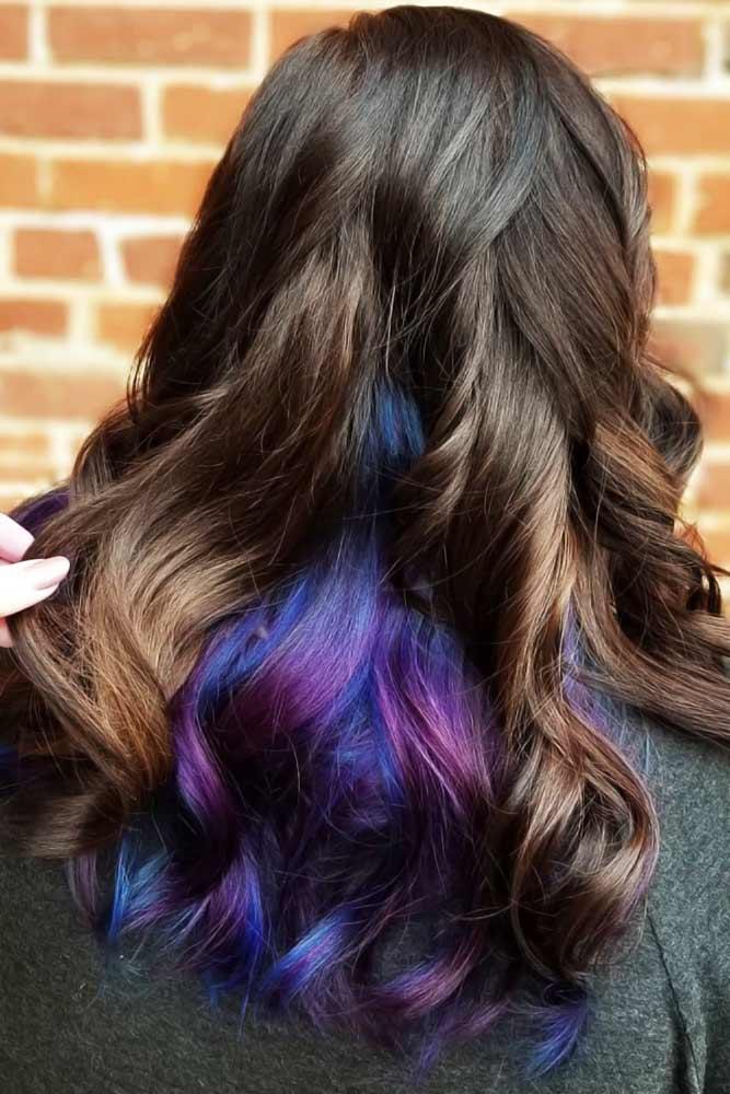 Hidden Midnight Purple #peekaboohair #purplehair