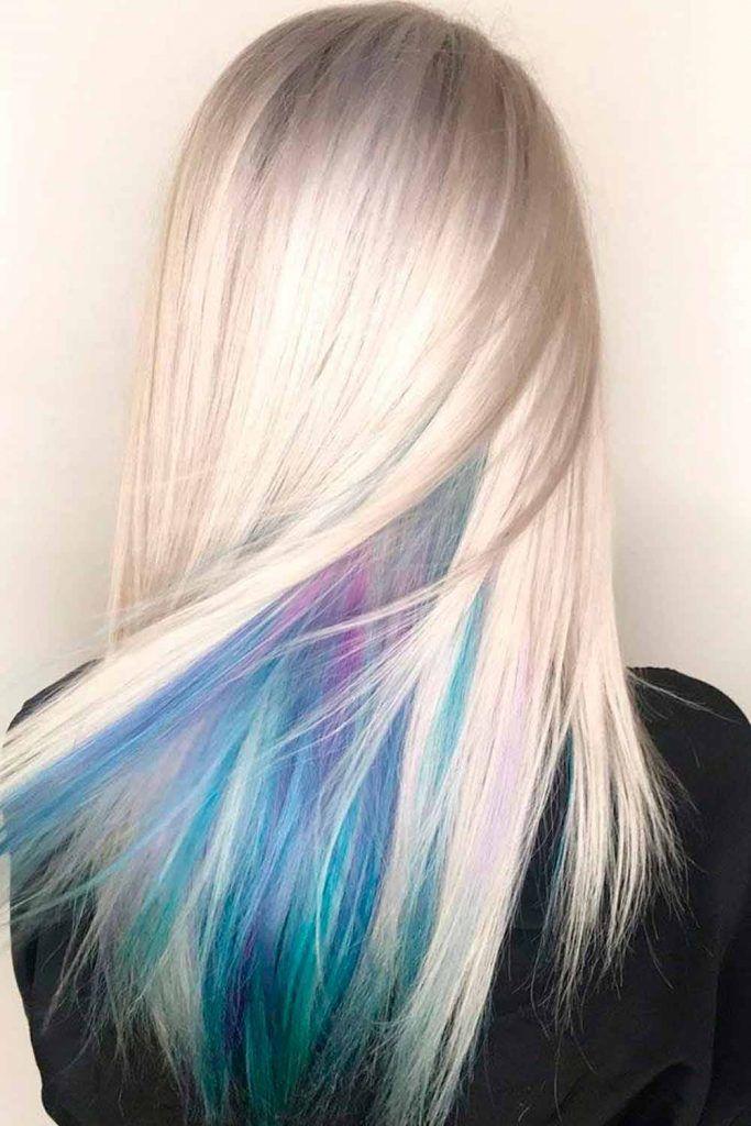 Amazing hidden peekaboo hair