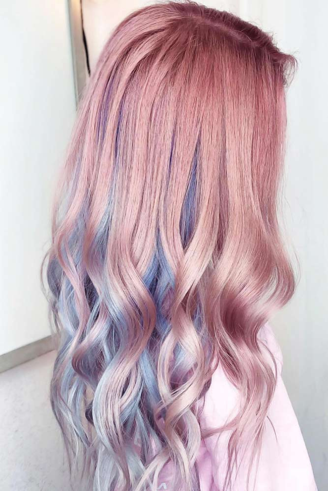 Pastel Pink And Blue #peekaboohair