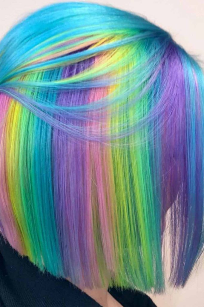 Amazing rainbow hair you will want to try