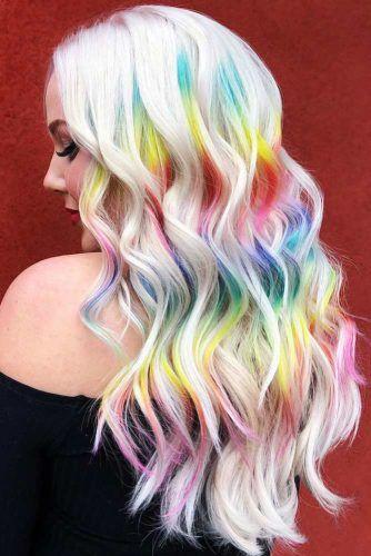 Pastel Prism Look #peekaboohair #rainbowhair