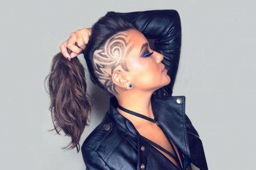 Sassy Half Shaved Head Designs Good Girls Go Bad
