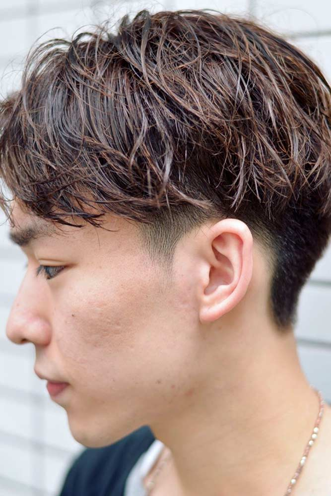 Effortless Brown Two Block Haircut #twoblockhaircut #haircuts #menhaircuts