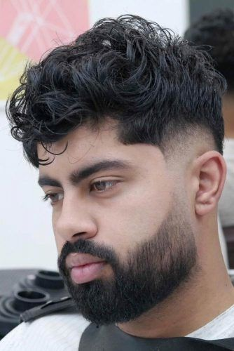 Wavy Top Drop Fade #dropfade #haircuts #menhaircuts