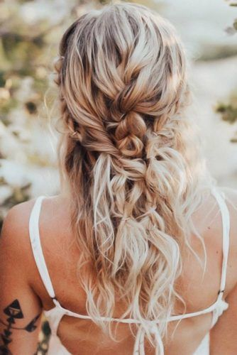 Crown With Dutch Braid #hippiehairstyles