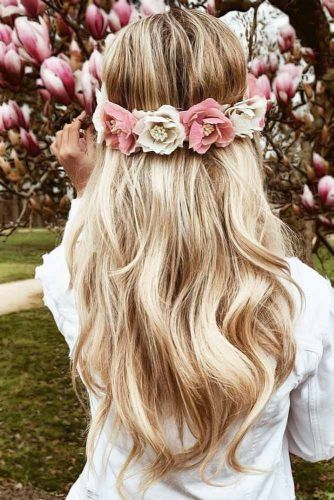 Crown Of Roses #hippiehairstyles