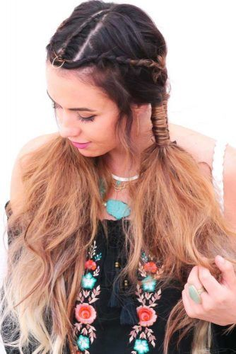 Twisted Dread Into Infinity Pigtails #braids #hippiehairstyles