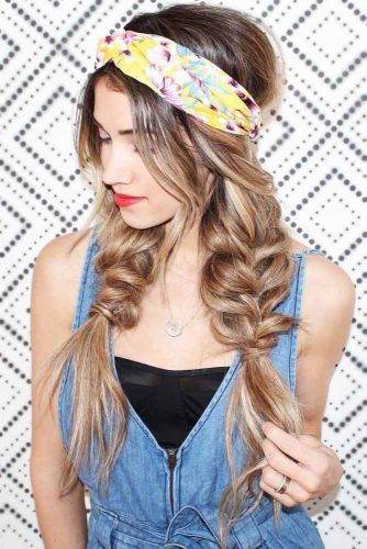 Double Pull Through Braids #hippiehairstyles #braids
