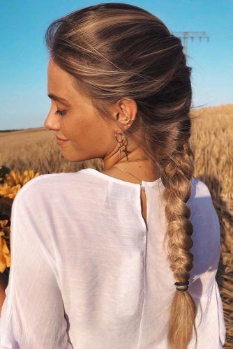 Hippie Hairstyles With Long French Messy Braid #hippiehairstyles