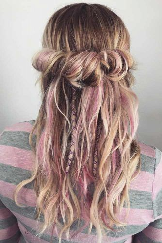 Messy Twisted Half-Up #hippiehairstyles