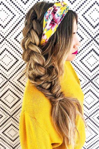 Headband With Side Dutch Braid #braids #hippiehairstyles
