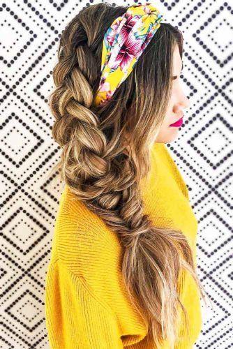 Headband With Side Dutch Braid #braids #hippiehairstyles