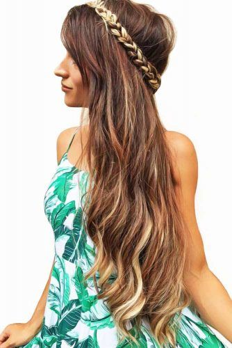 Three Strands Headband Braid #braids #hippiehairstyles