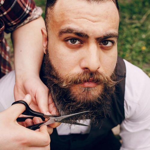 How To Trim A Beard With Scissors #howtotreamabeard #beard