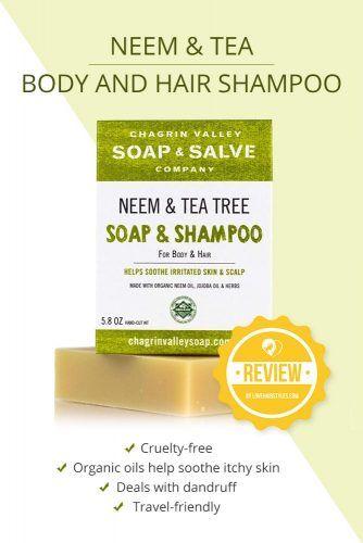 Neem & Tea Body And Hair Shampoo #shampoobar #hairproducts