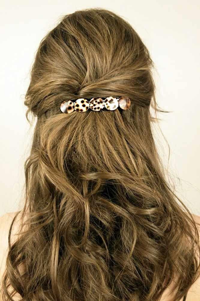 Hair Clips With Wavy Long Hair