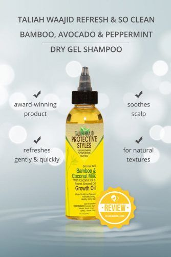 Taliah Waajid Refresh & So Clean Bamboo, Avocado & Peppermint Dry Gel Shampoo #dryshampoo #shampoo