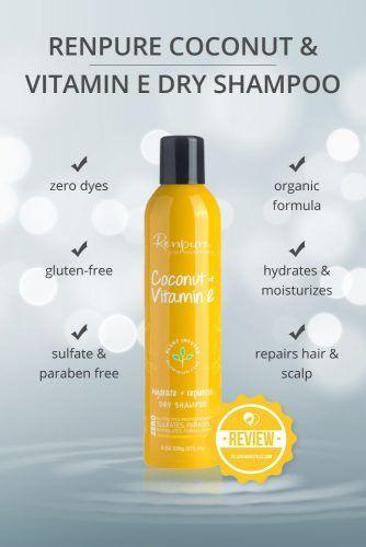 Renpure Plant Based Coconut & Vitamin E Dry Shampoo #dryshampoo #shampoo