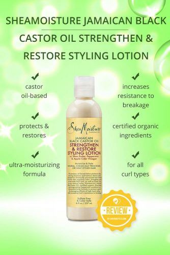 SheaMoisture Jamaican Black Castor Oil Strengthen & Restore Styling Lotion #naturalhairproducts #hairproducts