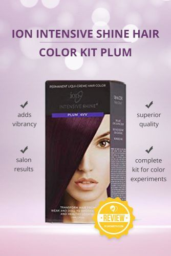 Ion Intensive Shine Hair Color Kit Plum #purplehairdye #hairproducts