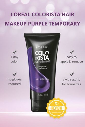 Loreal Colorista Hair Makeup Purple Temporary Brunette Hair Color #purplehairdye #hairproducts