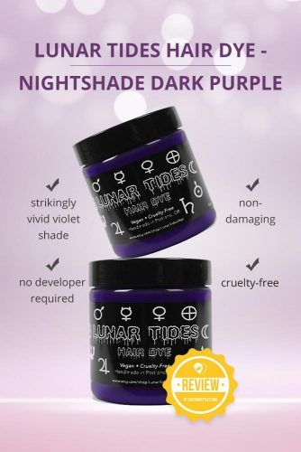Lunar Tides Hair Dye Nightshade Dark Purple Semi-Permanent Vegan Hair Color #purplehairdye #hairproducts