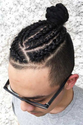 Braided Man Bun #braidsformen #mensbraids