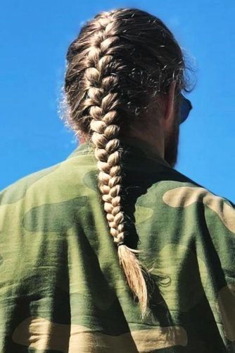 Long French Braid #braidsformen #mensbraids