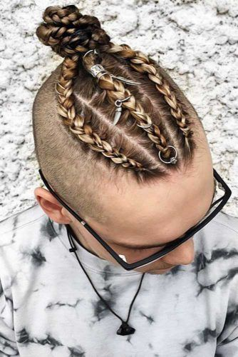 Braids With Hair Rings #braidsformen #mensbraids