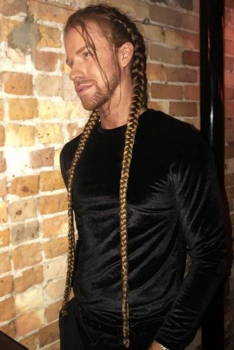 Long Double Braids #braidsformen #mensbraids