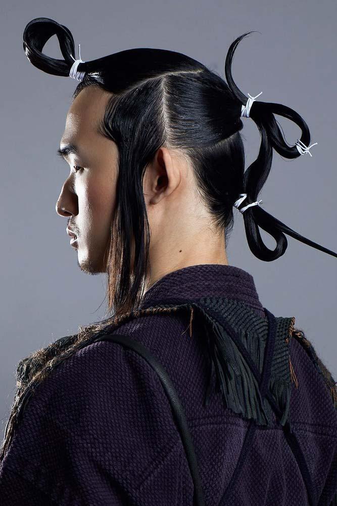 Cosplay Samurai Hairstyle #samuraihair #menhairstyles