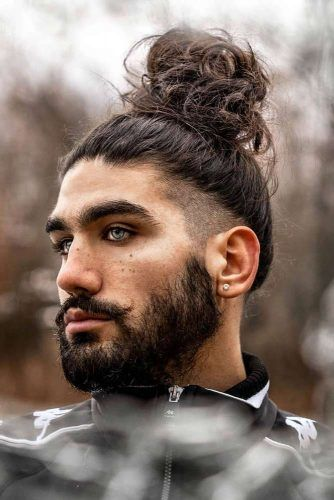 High Bun With Shaved Temples #samuraihair #menhairstyles