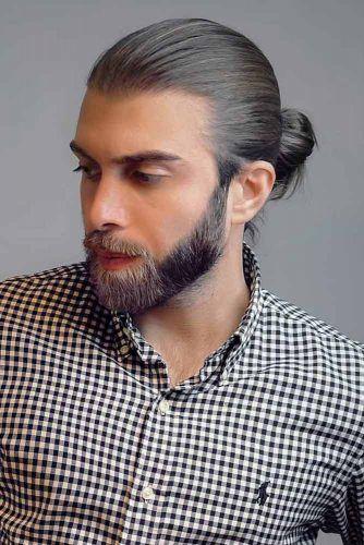 Man Bun With Beard Style #samuraihair #menhairstyles