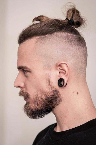 Top Knot With Bald Fade #samuraihair #menhairstyles