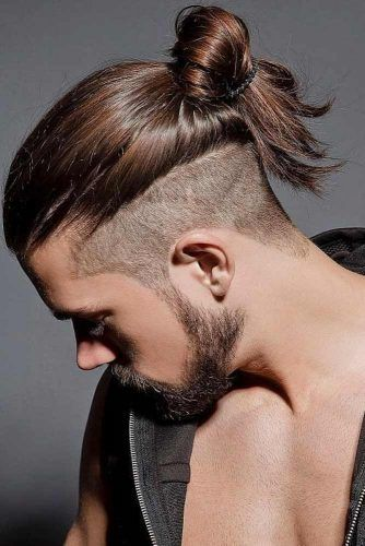 Top Knot With Shaved Sides #samuraihair #menhairstyles