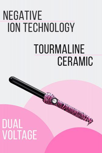 Jose Eber Pro Series 25mm Pink Zebra Curling Iron #curlingiron #hairproducts