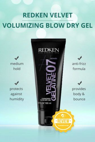 Redken Velvet Gelatine 07 Volumizing Blow Dry Gel #hairgel #hairproducts