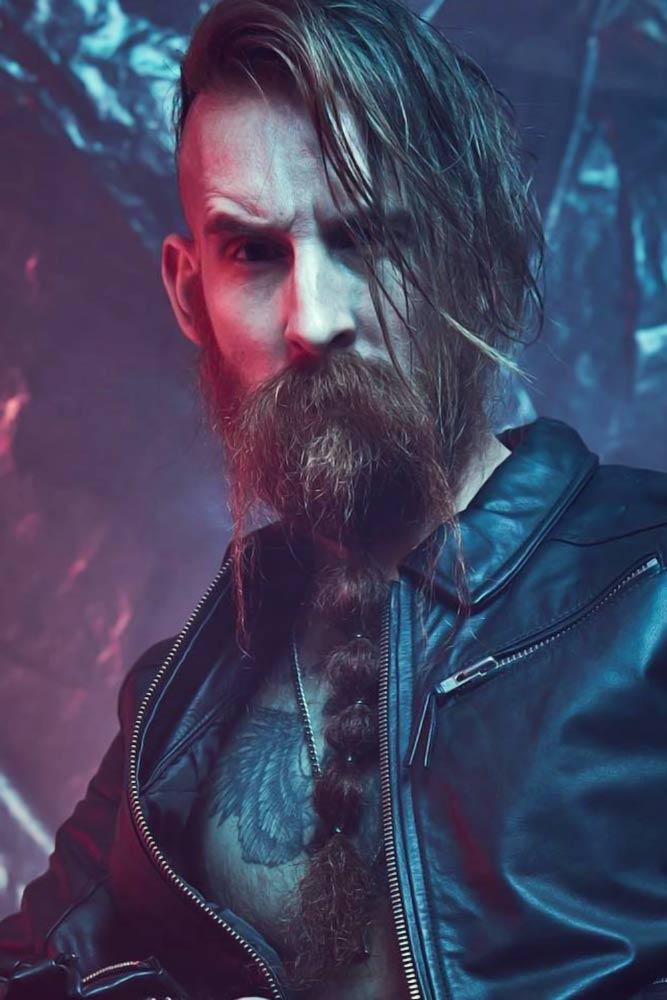 Bubbled Braid #beard #braids #braidedbeard